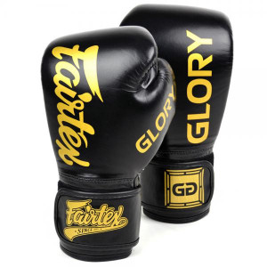 Боксерские перчатки Fairtex Glory Black, липучка, 16 OZ Fairtex